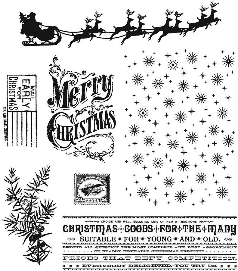 Stampers Anonymous Tim Holtz Christmas Nostalgia Stamp Set