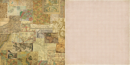 Teresa Collins World Traveler Collection 12 x 12 Double Sided – World Traveler Maps