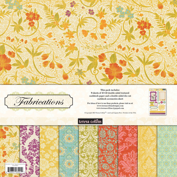 Collins Fabrications Collection Canvas 12 X 12 Paper And