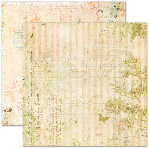 Pink Paislee Butterfly Garden Collection 12 x 12 Double Sided