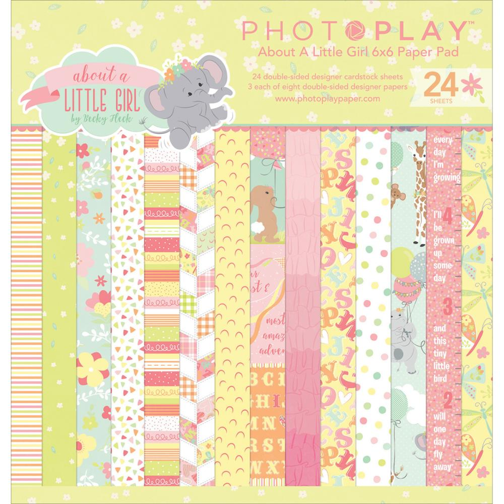 Jungle scrapbook ideas - Sale Photo Play Paper About A Little Girl Collection 6 X 6 Paper Pad