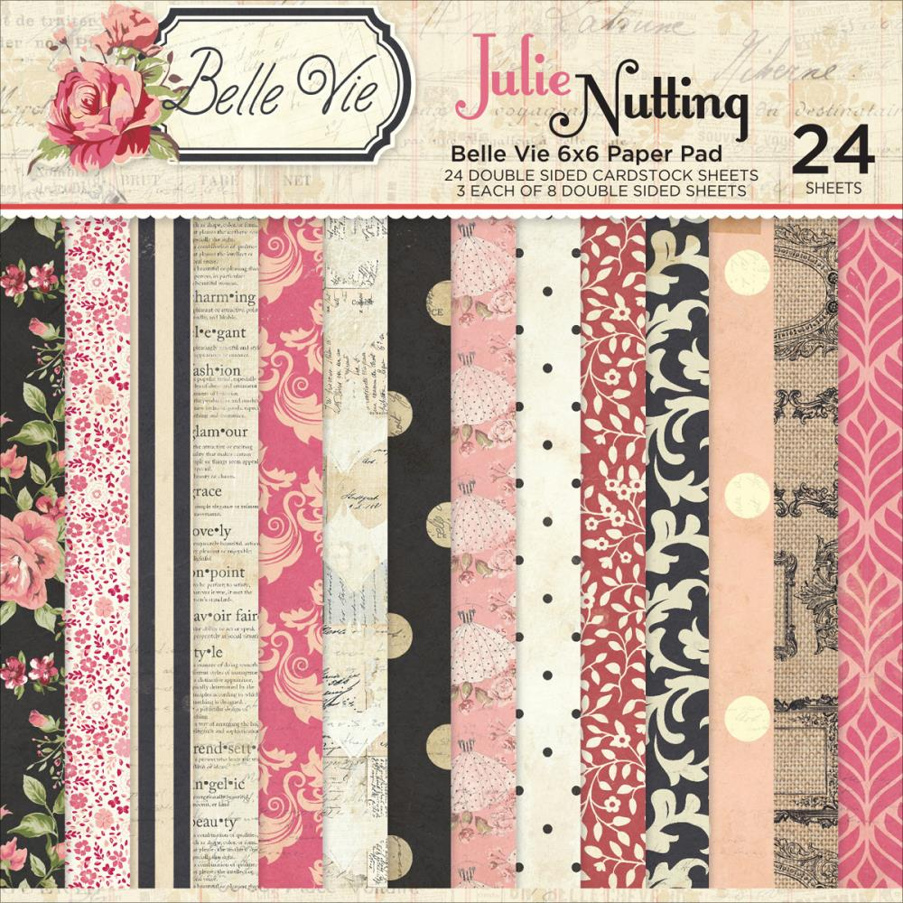 Scrapbook paper collections - Photo Play Paper Belle Vie Collection 6 X 6 Paper Pad