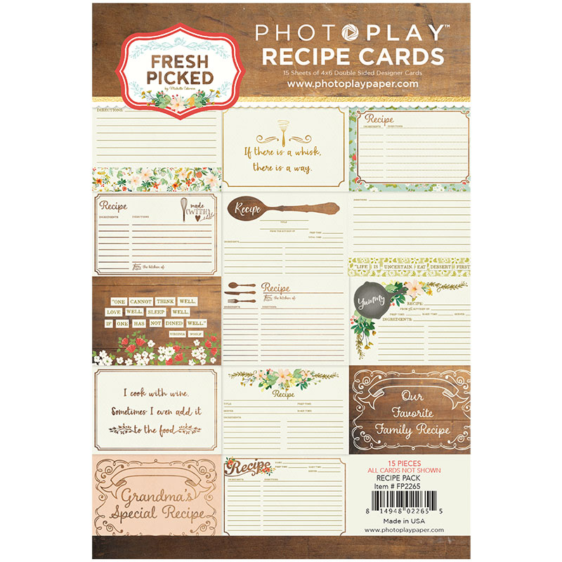 Photo play paper fresh picked recipe card pack photo play paper fresh picked collection recipe card pack forumfinder Choice Image