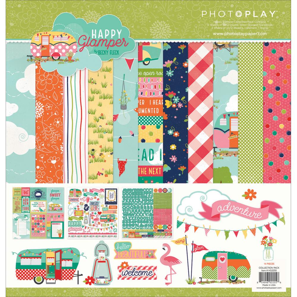 Abc scrapbook ideas list - Sale Photo Play Paper Happy Glamper Collection 12 X 12 Collection Pack