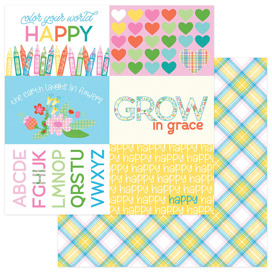 Photo Play Papers Mad For Plaid - Happy Colors
