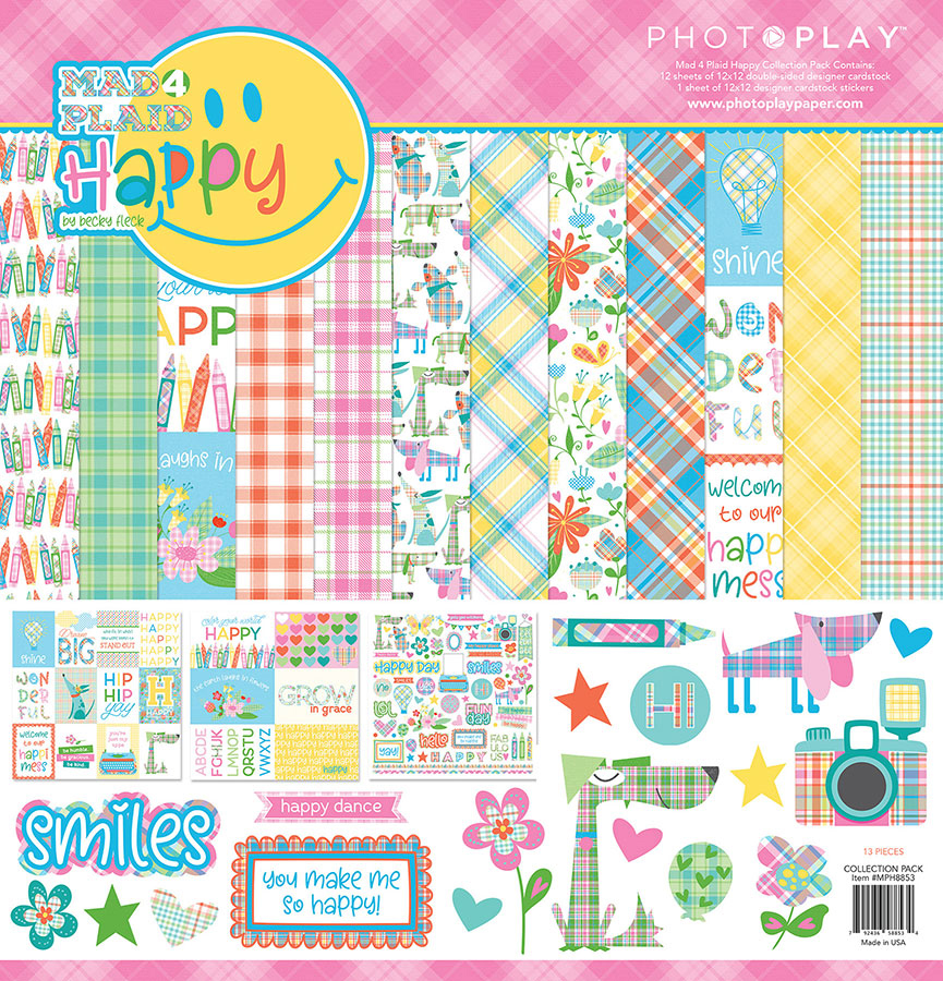 Photo Play Paper Mad For Plaid Happy Collection