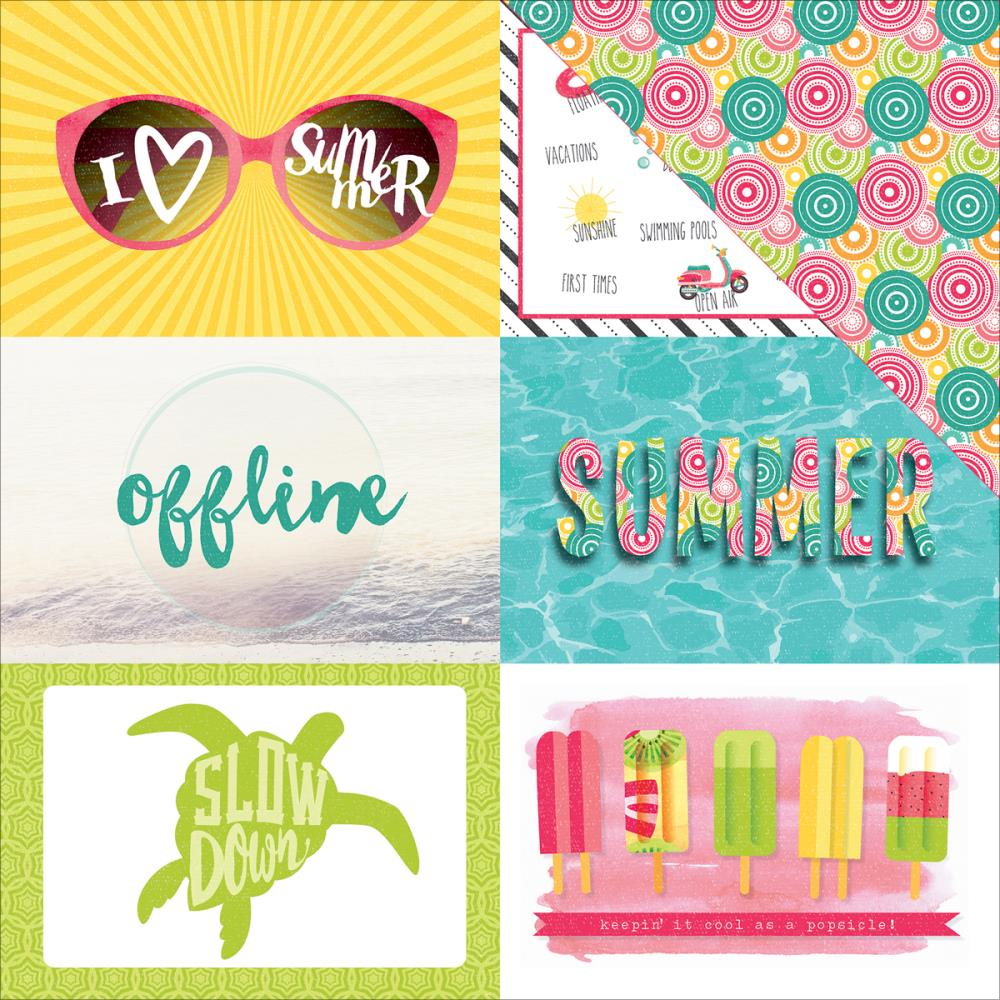 Photo Play Paper Summer Daydreams Summer Fun 4 X 6 Cards Paper