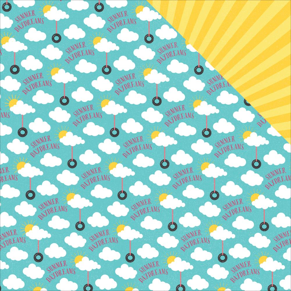 Scrapbook paper clouds - Photo Play Paper Summer Daydreams Collection 12 X 12 Double Sided Paper Swinging In The Clouds
