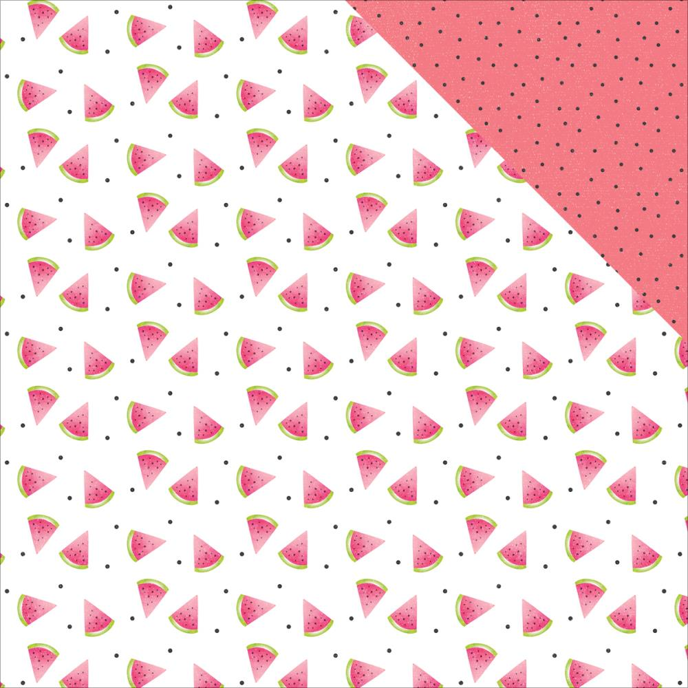 Double sided craft paper - Photo Play Paper Summer Daydreams Collection 12 X 12 Double Sided Paper Watermelon