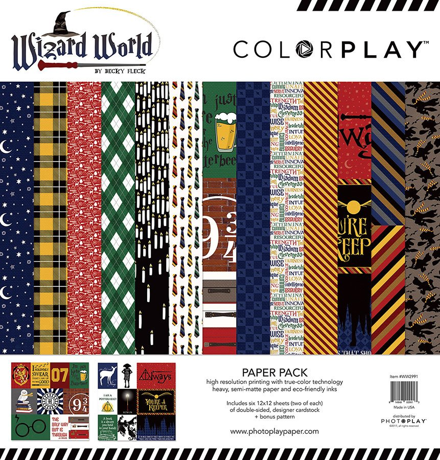 Photo Play Paper Color Play Wizard World Collection