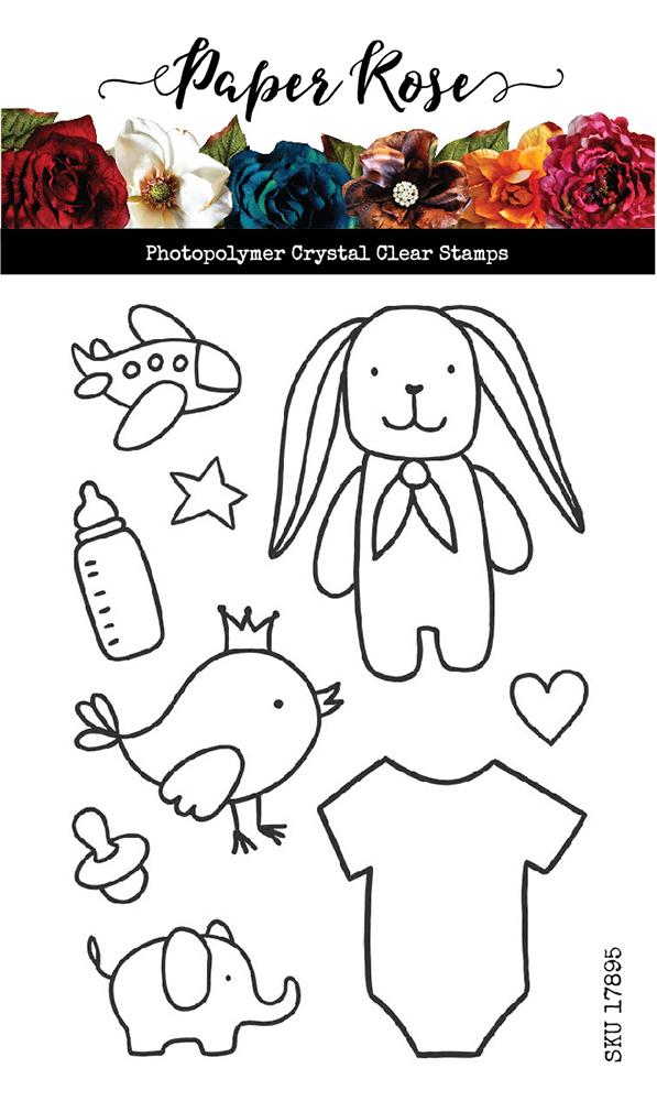 Paper Rose Baby Doodles Stamp