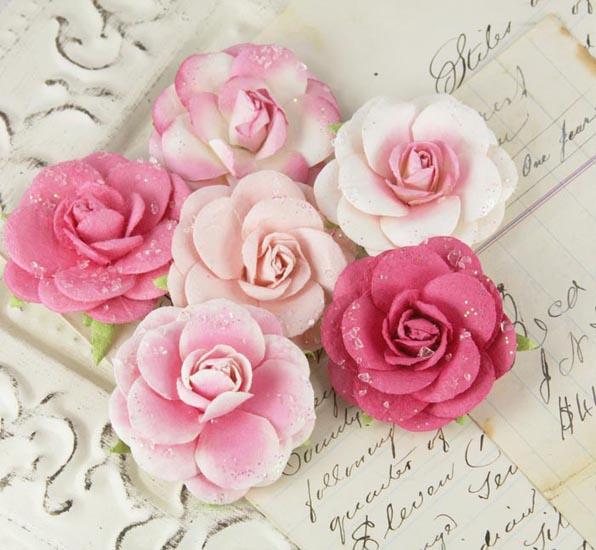 prima love letter roses collection flower embellishments quartz