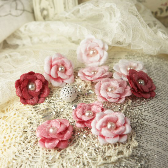 Prima audrey rose collection fabric flower embellishments prima audrey rose collection fabric flower embellishments tinkled pink mightylinksfo