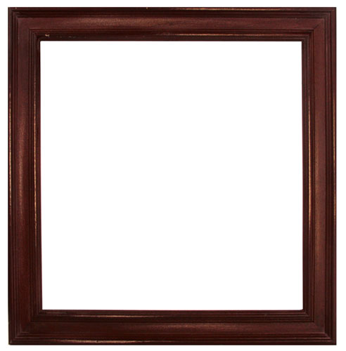prima 12 x 12 wood frame antique brown