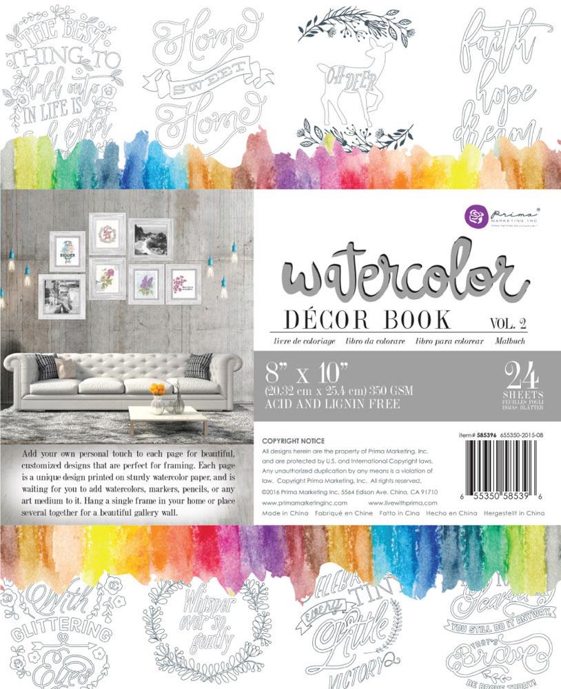 Prima Watercolor Coloring Book Volume 2