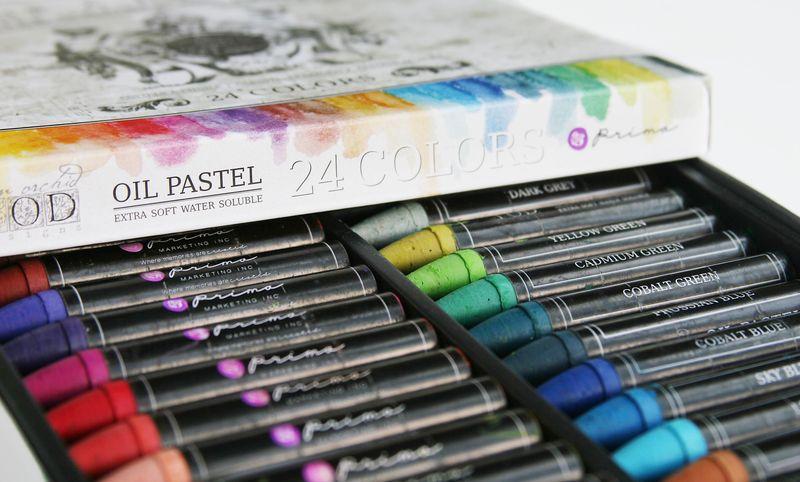 Prima - Colour A La Cremes - Water Soluble Oil Pastels - 24 Colors