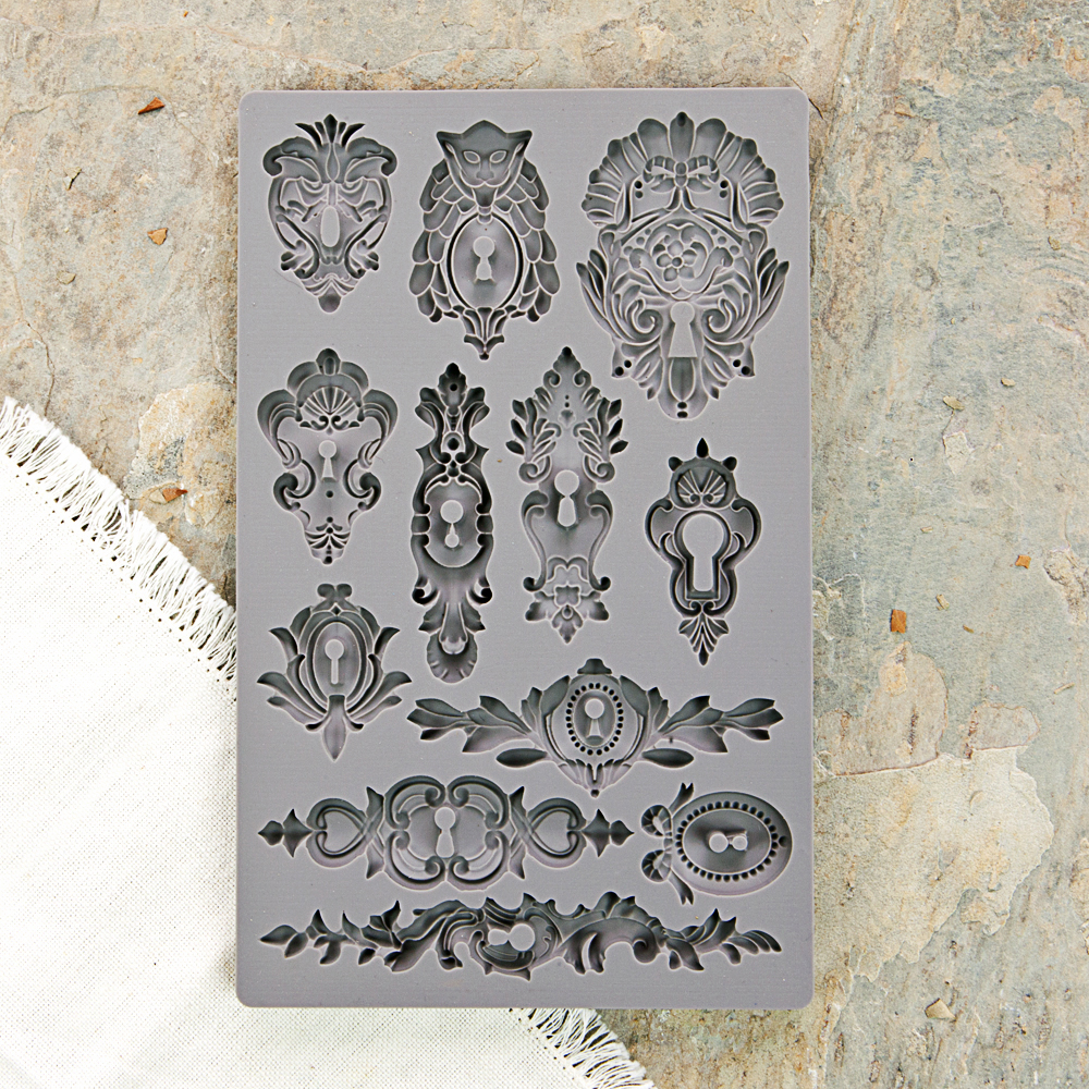 Prima Iron Orchid Designs Keyholes Vintage Art Decor Mould
