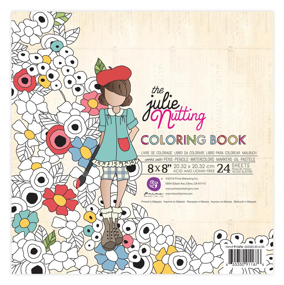 Prima Julie Nutting Coloring Book