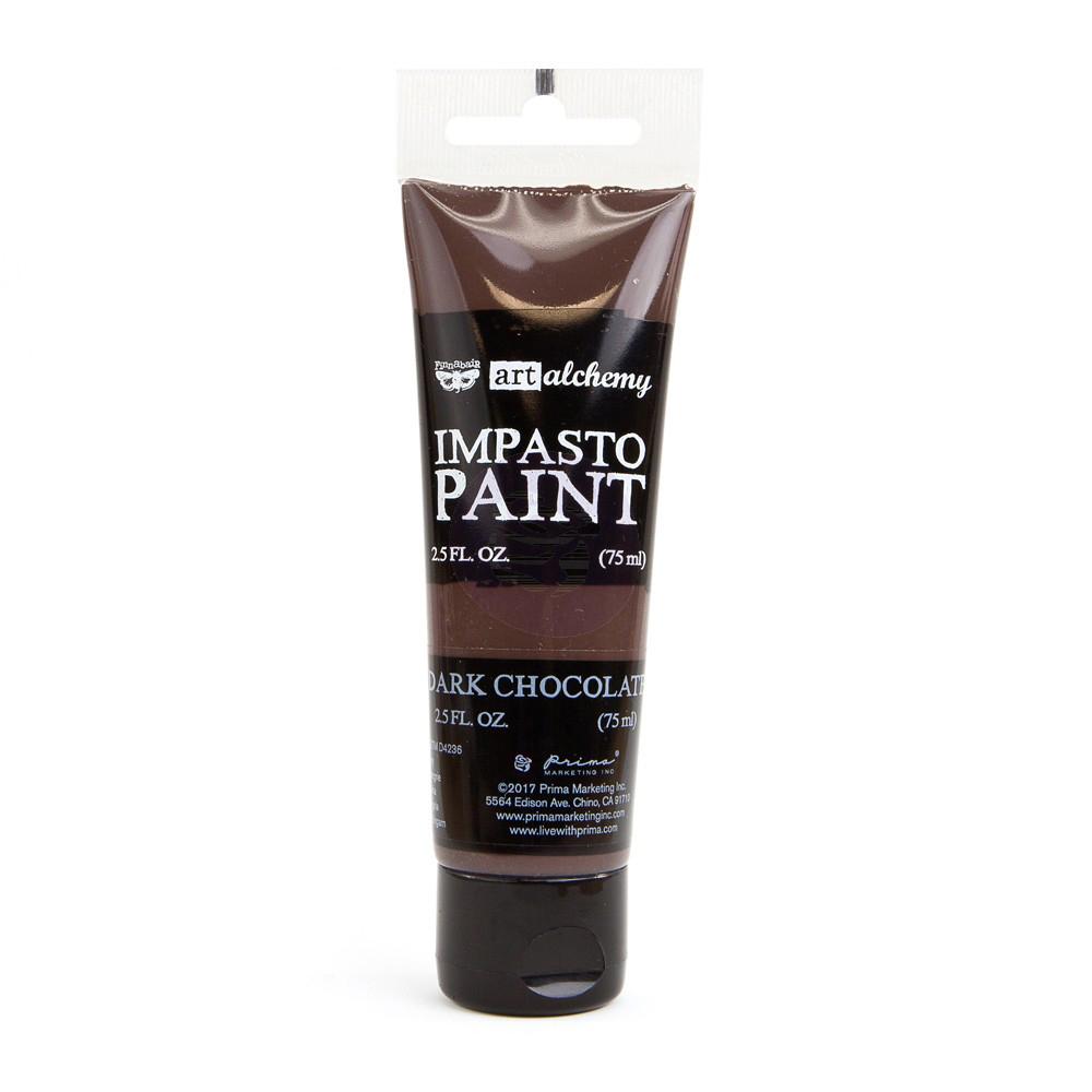 Dark Chocolate Brown Paint Prima Finnabair Art Alchemy Dark Chocolate Impasto Paint