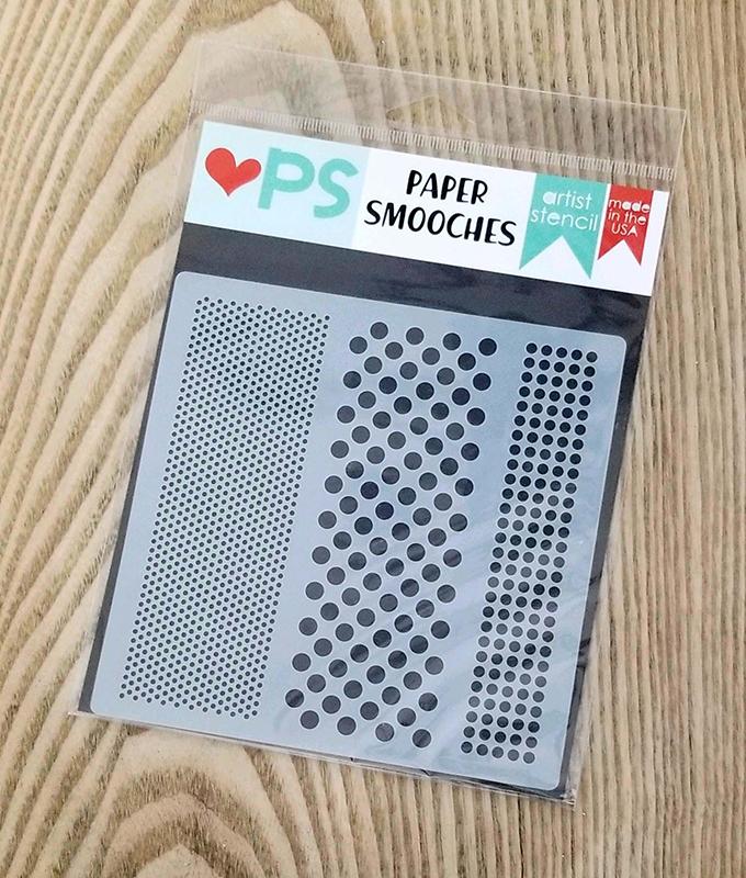Paper Smooches Hot Dot Stencil