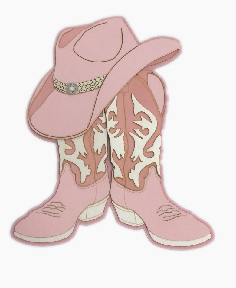 pink cowboy boots cartoon Pink Bow Clip Art Girls Pink Cowgirl Boots
