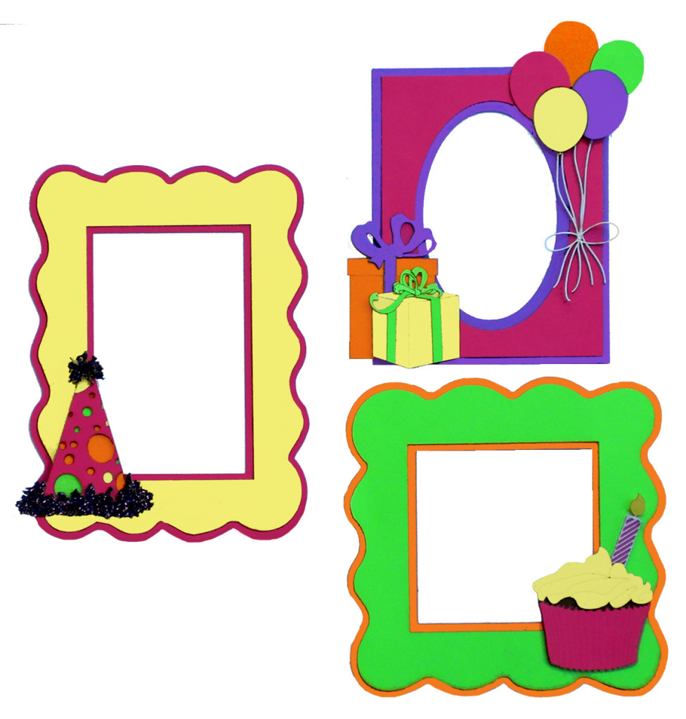 wizard you say its your birthday collection die cuts happy paper wizard you say its your birthday collection die cuts happy birthday frames pink