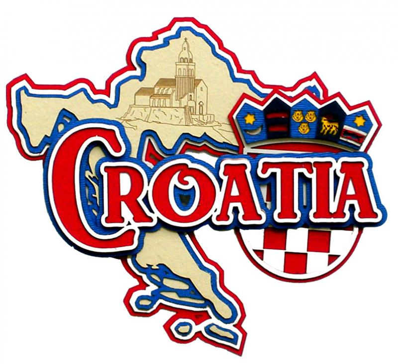 Paper Wizard Country Maps Collection Die Cuts Map Of Croatia