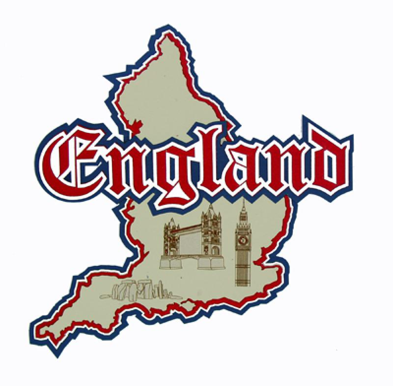 Country Map Of England.Paper Wizard Country Maps Collection Die Cuts Map Of England