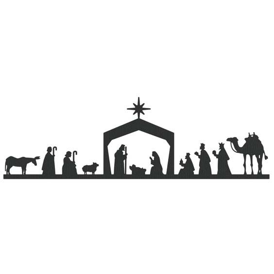 lifestyle crafts die cutting template christmas nativity border