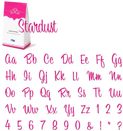 quickutz cookie cutter dies grand complete alphabet set stardust clearance