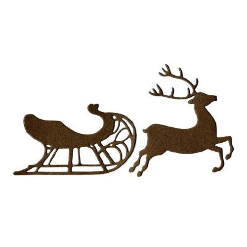 ... Crafts - Die Cutting Template - Christmas - Sleigh and Reindeer