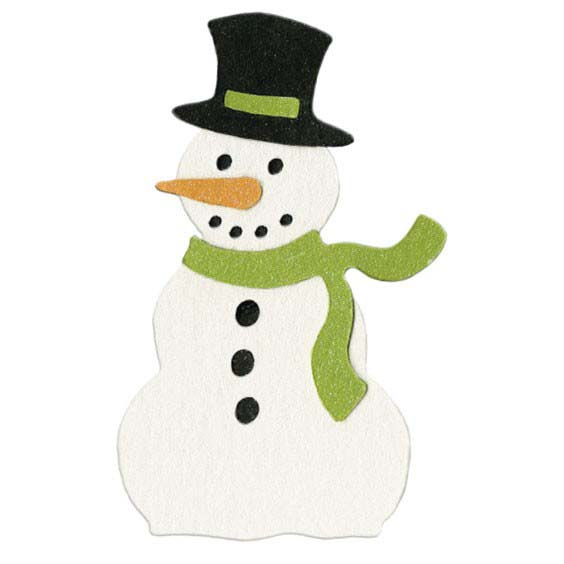 Crafts - Die Cutting Template - Christmas - Snowman