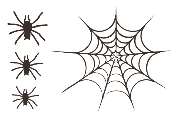 quick quotes halloween collection cardstock laser die cut pieces spider web - Spider Web Halloween