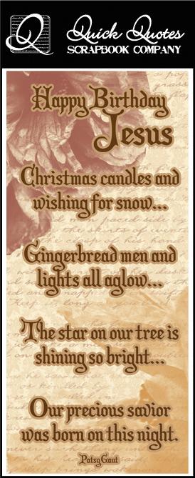 quick quotes christmas collection color vellum quote strip happy birthday jesus