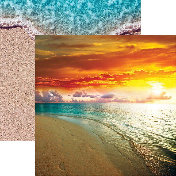 Reminisce At The Beach Collection 12 X Double Sided Paper Sunset In