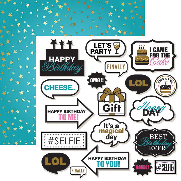 Ella and Viv Paper Company Happy Birthday Props Paper