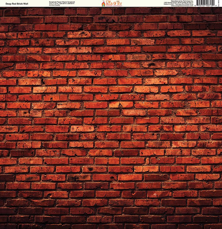 Ella And Viv Paper Company Brick Backgrounds Deep Red Brick Wall Paper Awesome Brick Pattern Paper