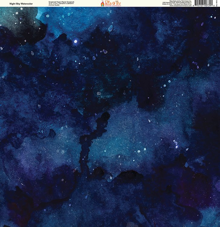 Ella And Viv Paper Company Watercolor Dreams Night Sky