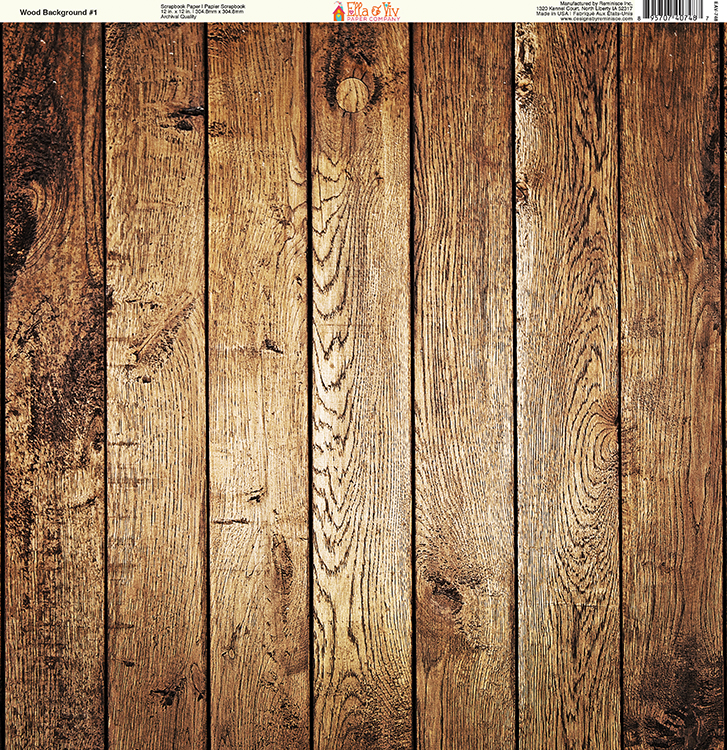 914808f2c04ea Ella and Viv Paper Company - Wood Backgrounds Collection - 12 x 12 Paper -  One