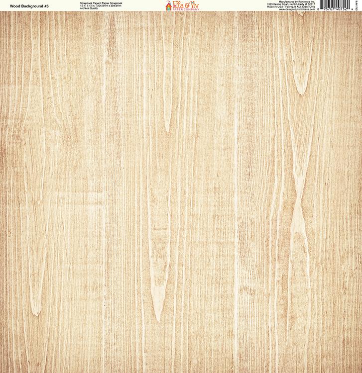 de5993420a7bd Ella and Viv Paper Company - Wood Backgrounds Collection - 12 x 12 Paper -  Five