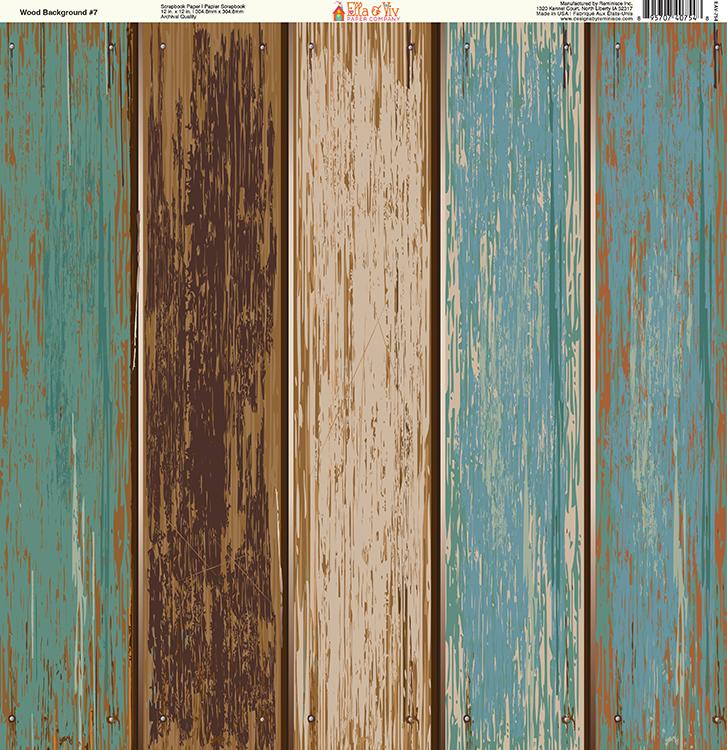 c6875859eddfa Ella and Viv Paper Company - Wood Backgrounds Collection - 12 x 12 Paper -  Seven