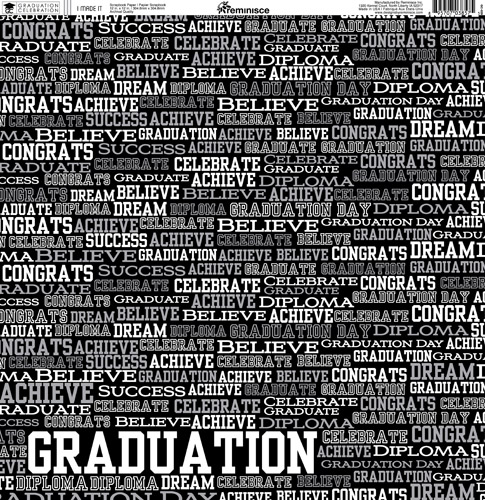 Reminisce Graduation Celebration Collection 12 X 12 Double Sided