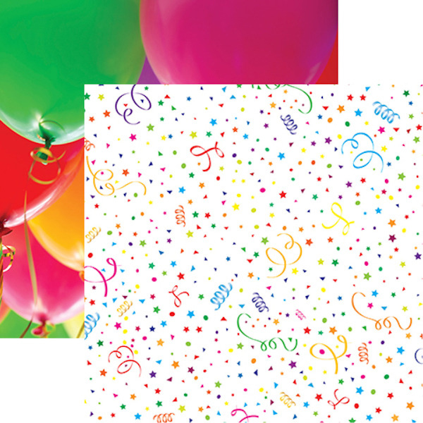 ITs Party Time Party Bokeh 5 Sheets 12X12 Scrapbook Papers by Reminisce