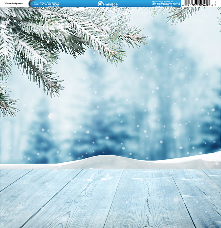 Reminisce Winter Collection  Single Sided Paper Winter Background