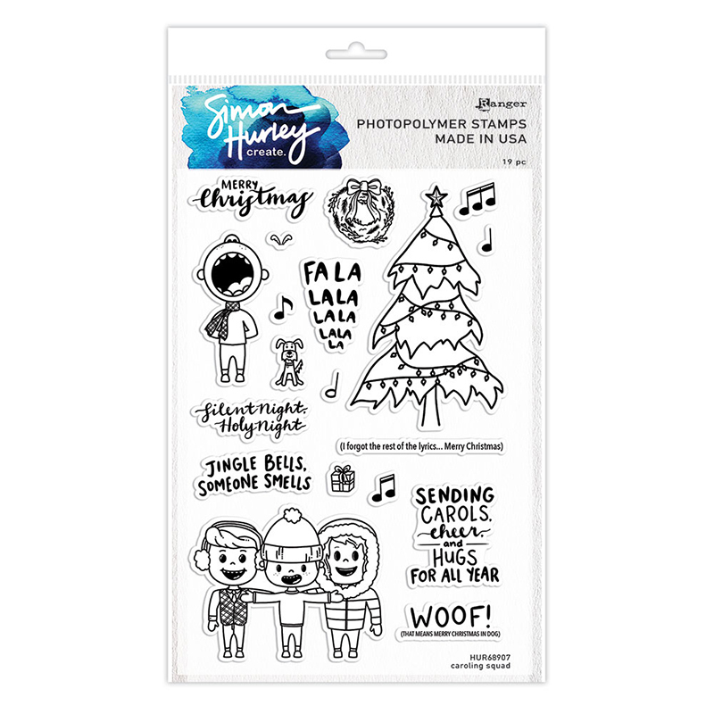 Ranger HUR-67245 Simon Hurley create Clear Cling Stamps 6X9-Space Training