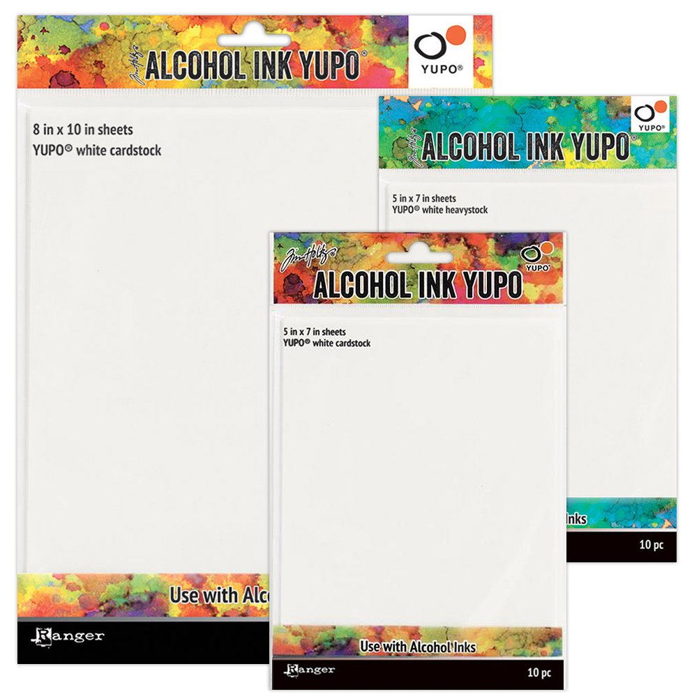 White Alcohol Ink Yupo Paper Synthetic 86 lb Tim Holtz 5  x 7
