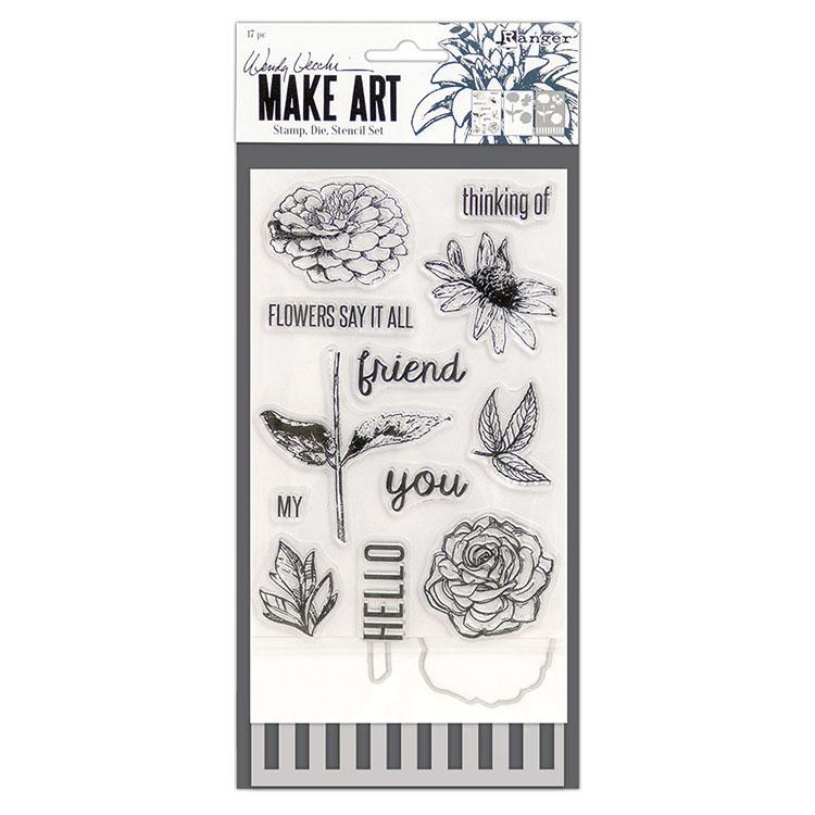 Wendy Vecchi Make Art Stamp Die /& Stencil Set-Flower Pot