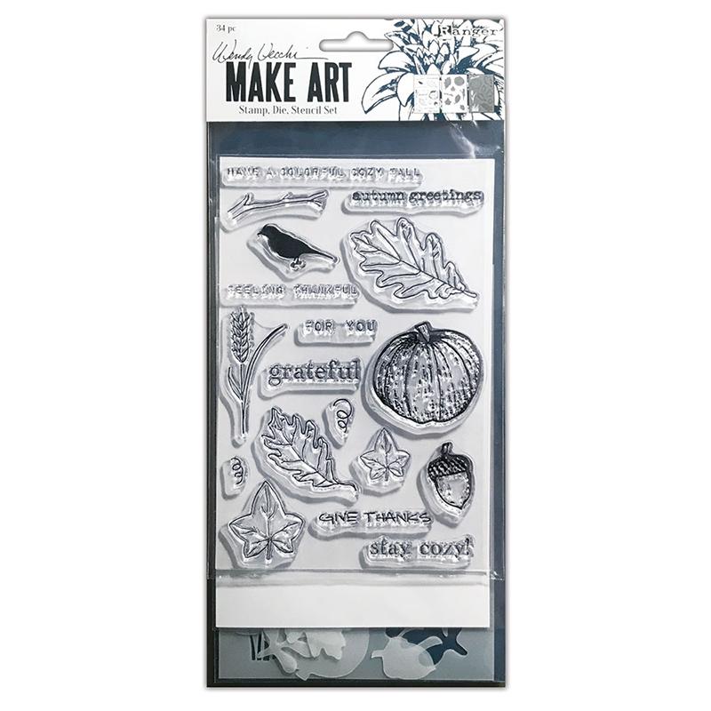 Wendy Vecchi Makeart Autumn Greetings Stamp Set