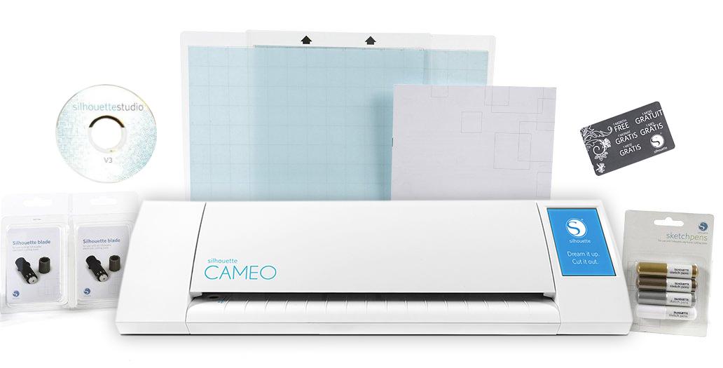 silhouette cameo electronic cutting machine starter bundle