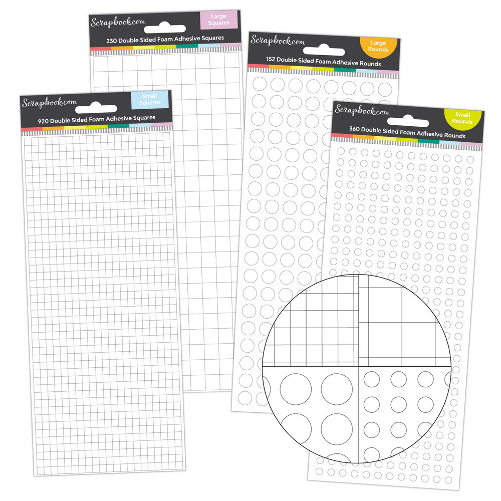 Exclusive Scrapbook.com Double Sided Adhesive Foam Assortment